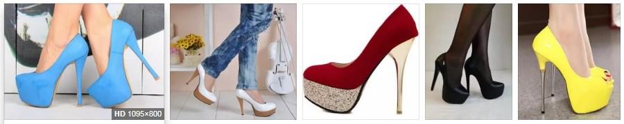Туфли на шпильке и на платформе