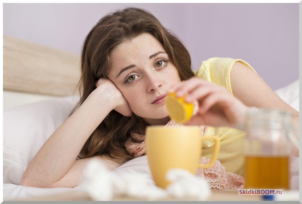 Как быстро вылечить простуду в домашних условиях - чай с лимоном