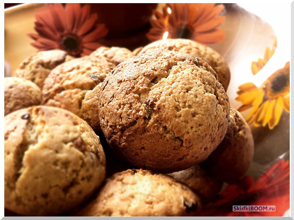 Самые низкокалорийные сладости - овсяное печенье