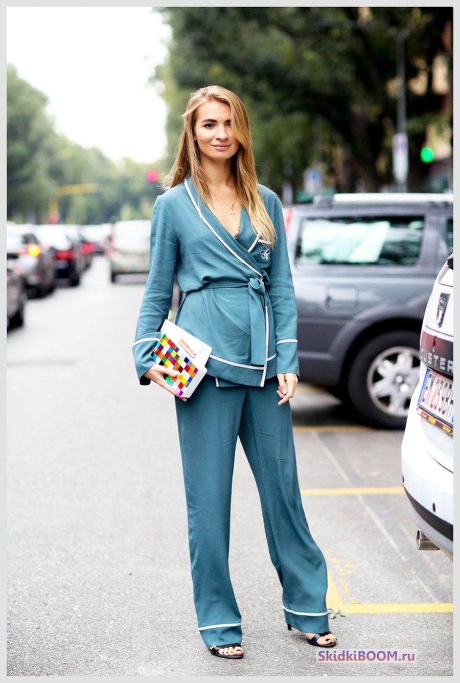 Какие женские брюки в моде - пижамный стиль