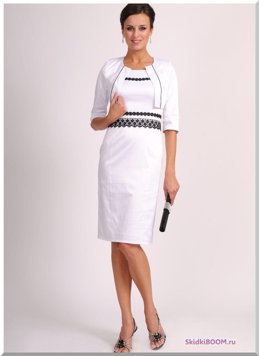 Модные платья для женщин после 50 лет - белое