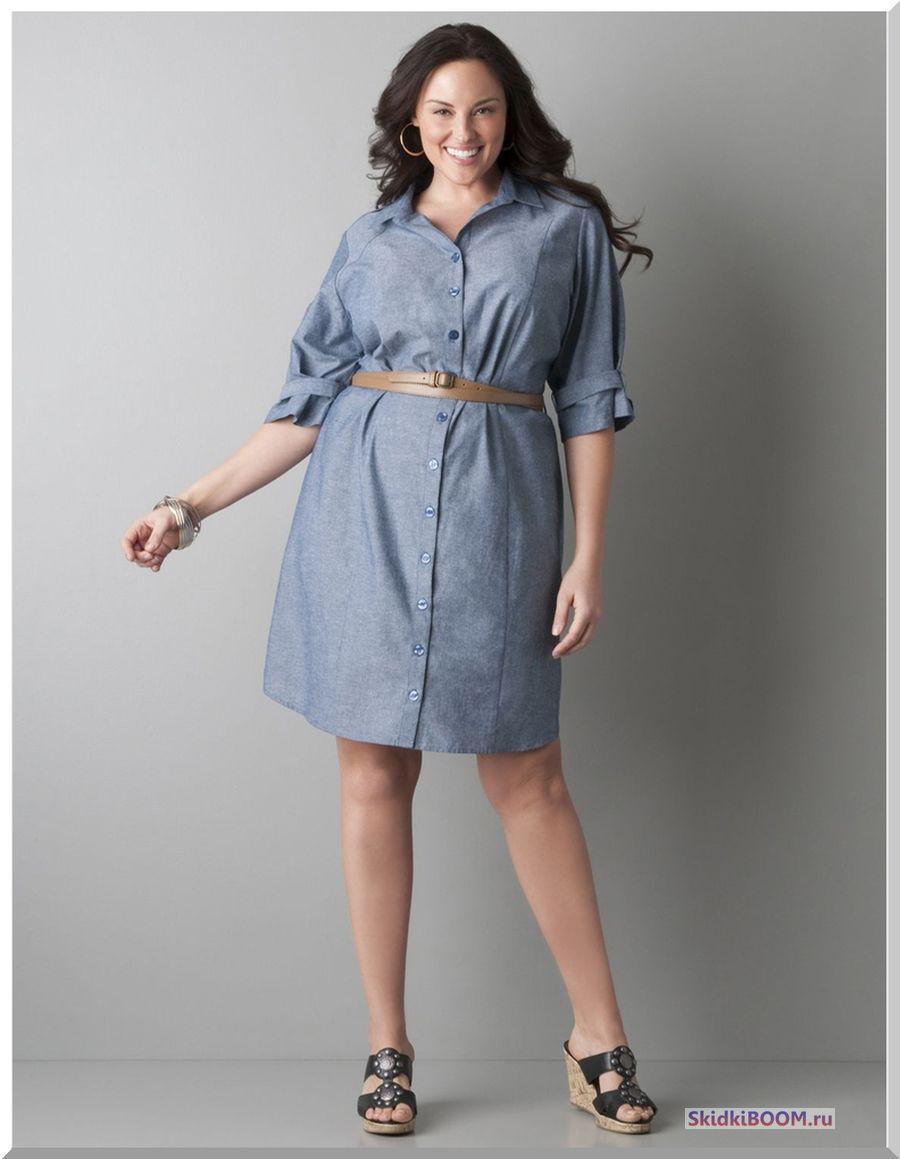 Модные платья для женщин после 50 лет - платье-рубашка