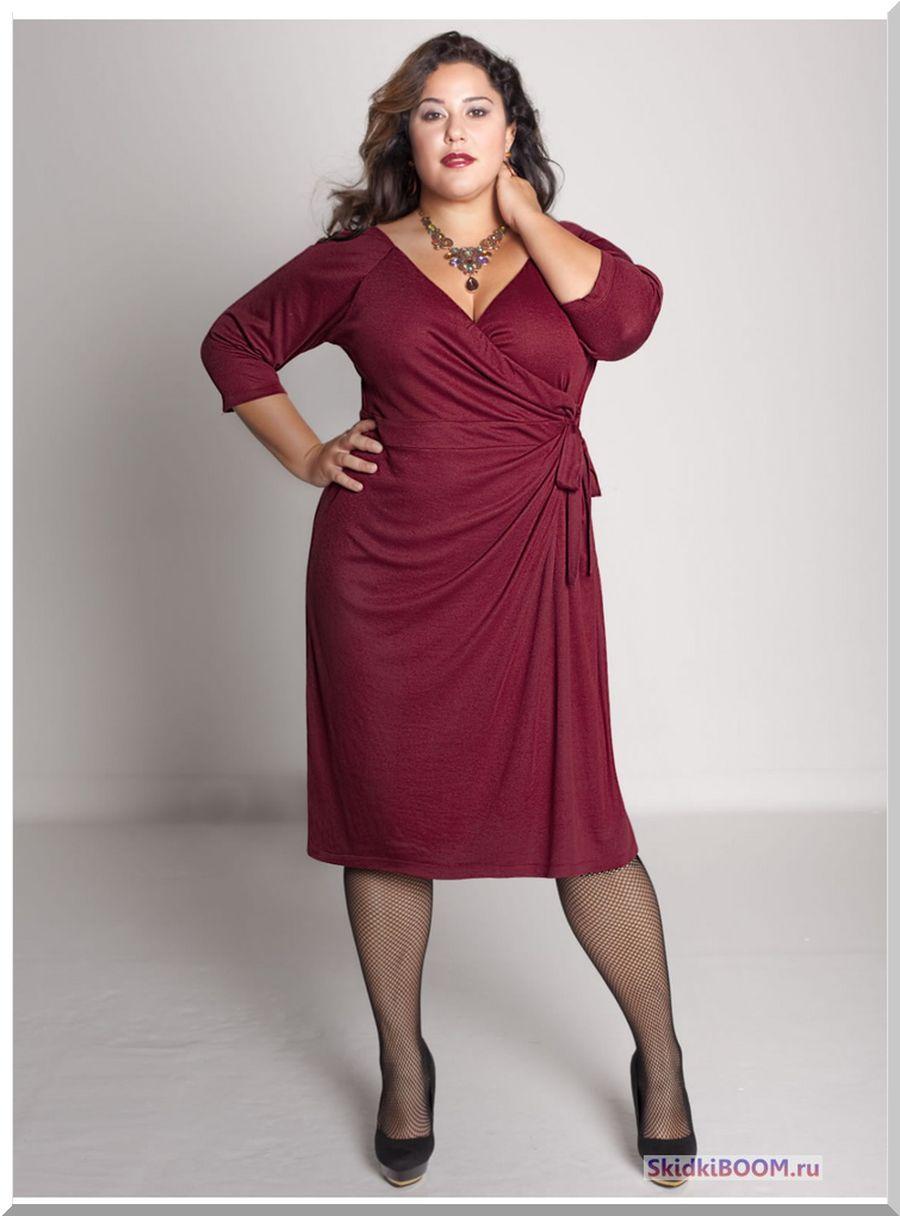 Модные платья для женщин после 50 лет - платье с запахом