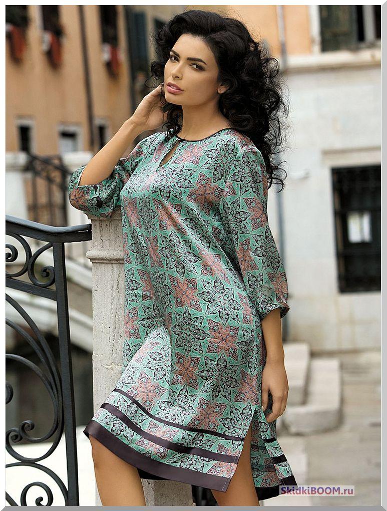 Модные платья для женщин после 50 лет - платье-туника