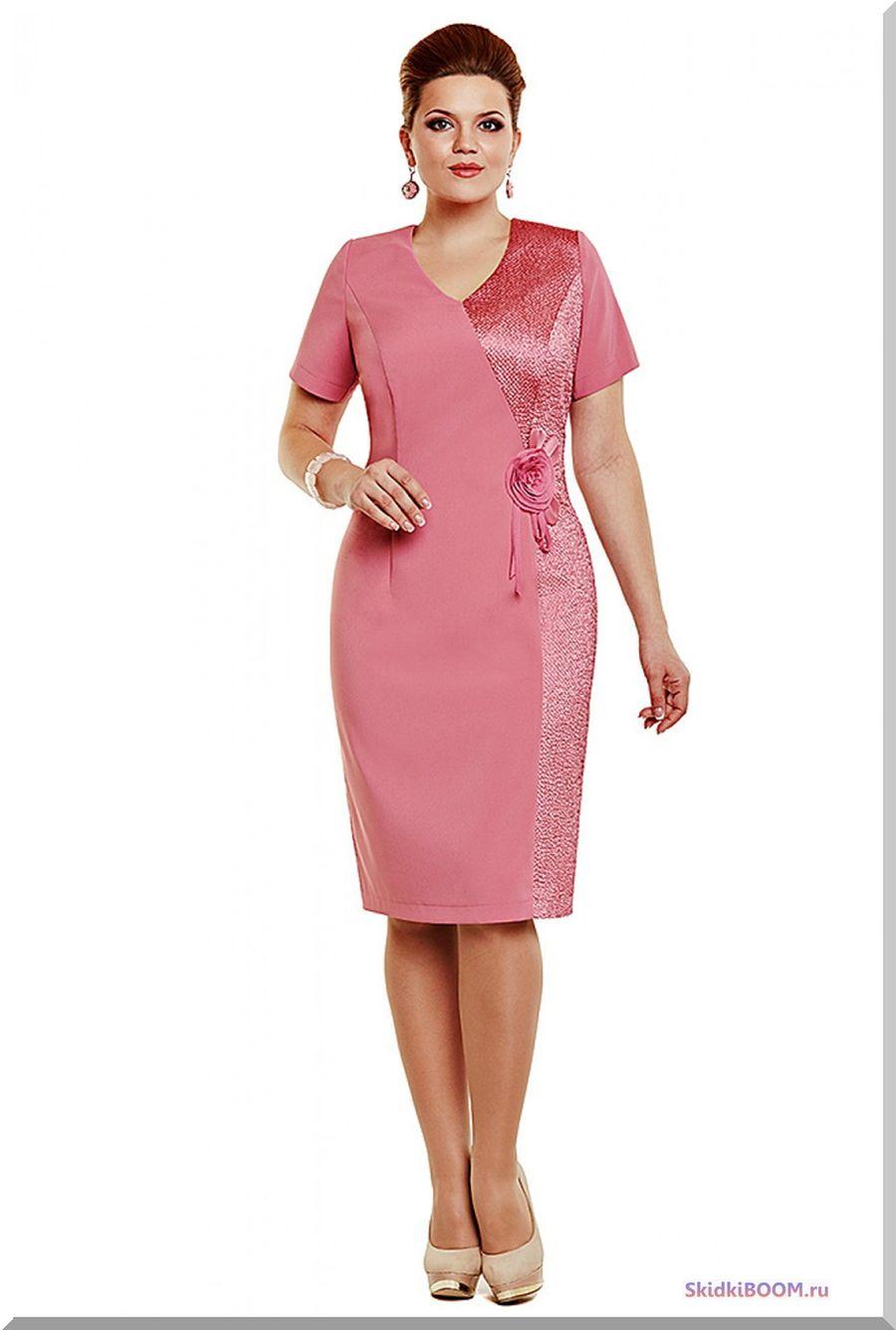 Модные платья для женщин после 50 лет - розовое