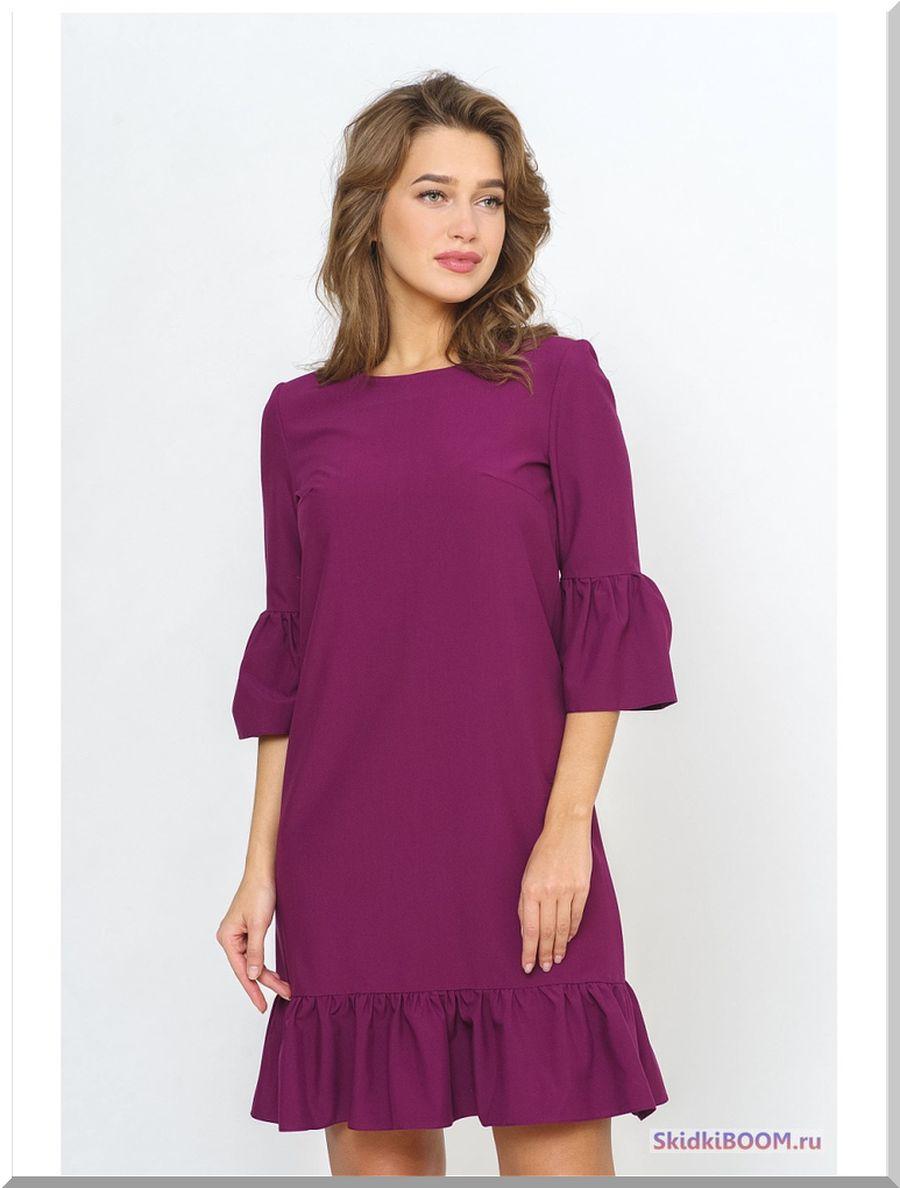 Модные платья для женщин после 50 лет - сливовое платье