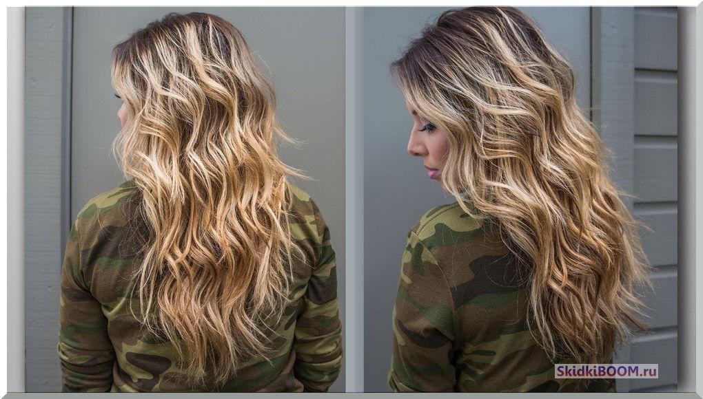 Укладка волос на длинные волосы - волны