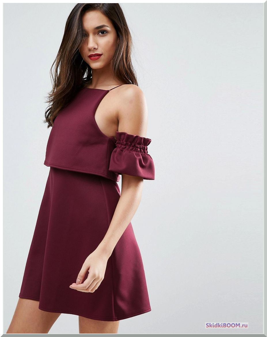 Модные тенденции в одежде бордовое платье