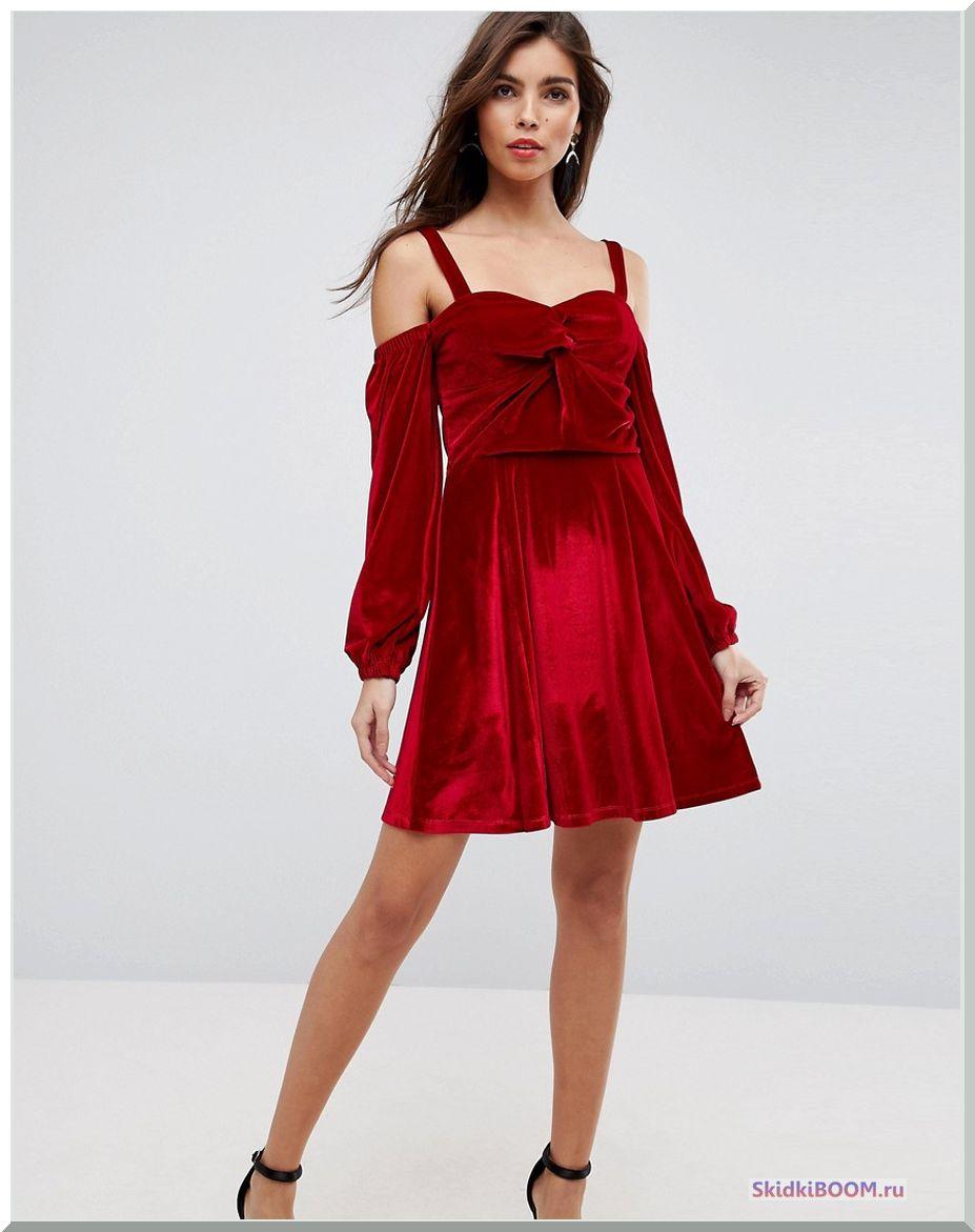 Модные тенденции в одежде вечерний образ бордовое платье