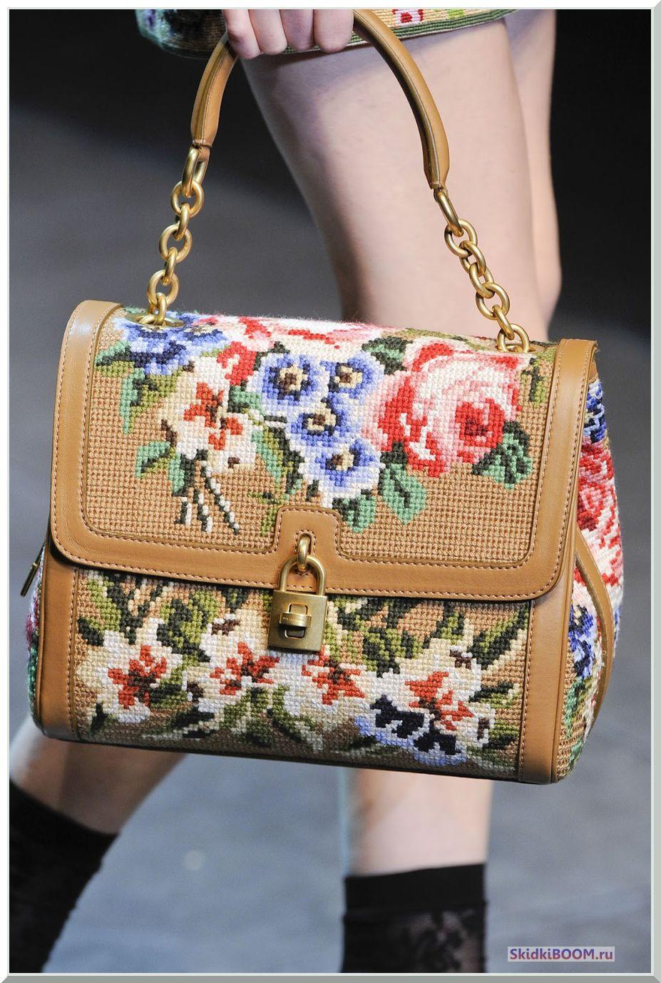 Модные тенденции в одежде сумочка с вышивкой