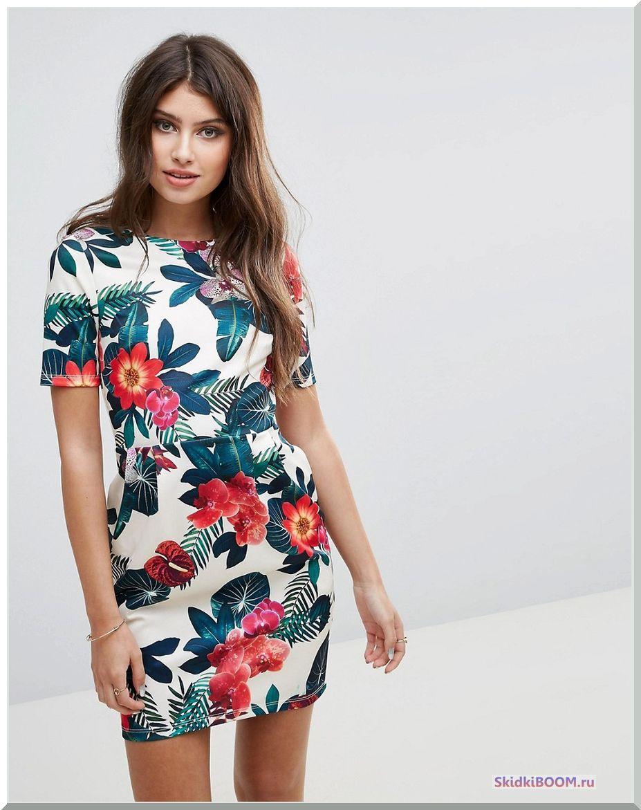 Модные тенденции платье с цветочный принт