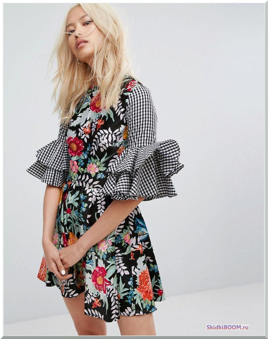 Модные тенденции платье с цветочный принт1