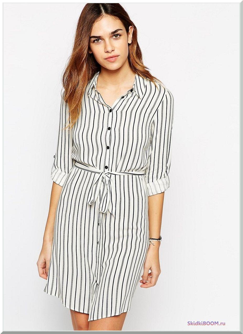 Платье-рубашка в клетку - Модные тенденции в одежде