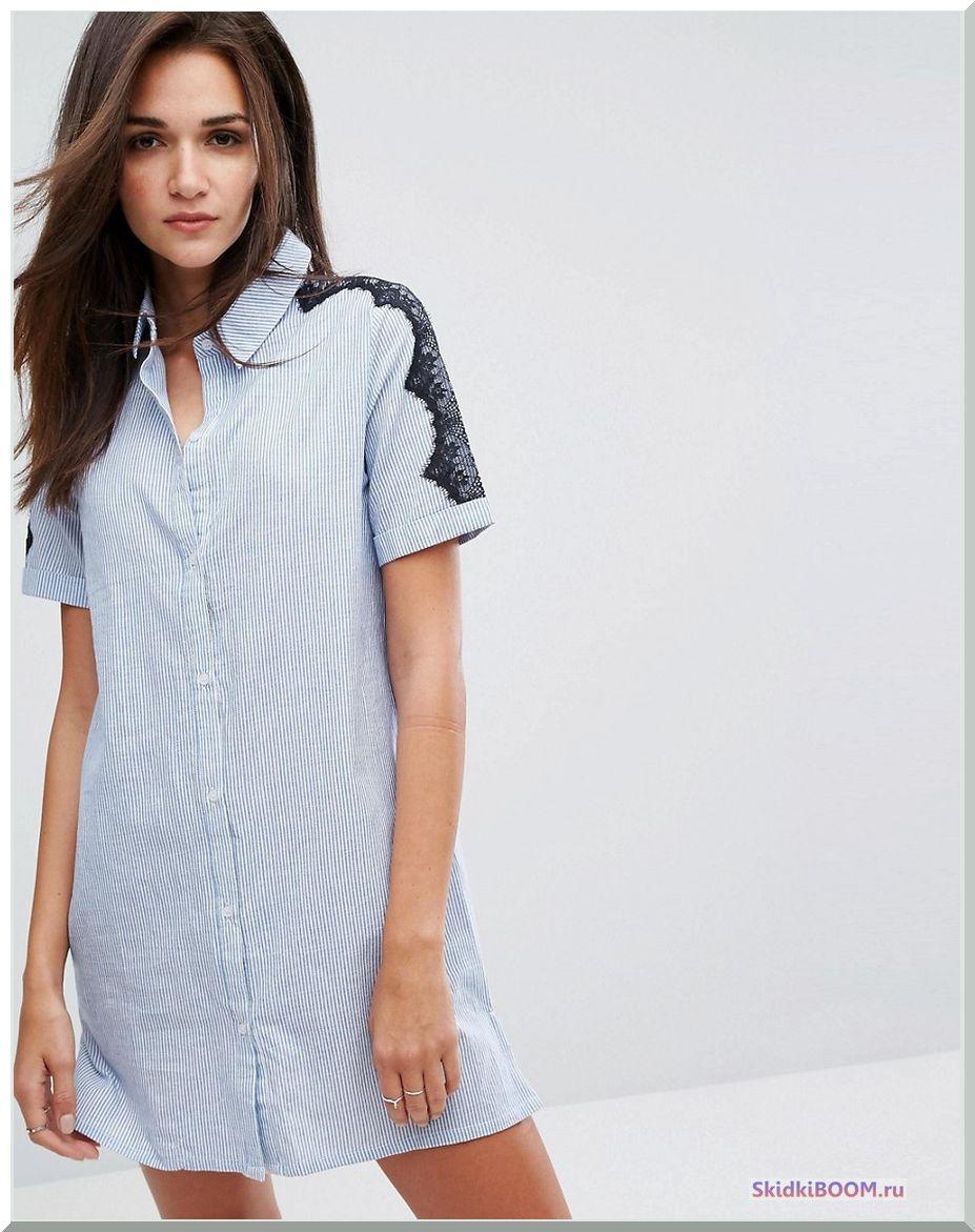 Платье-рубашка в клетку