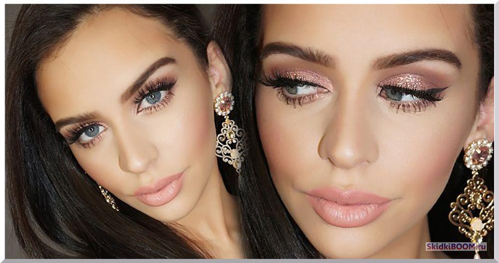 Новый тренд розовое золото свадебный макияж