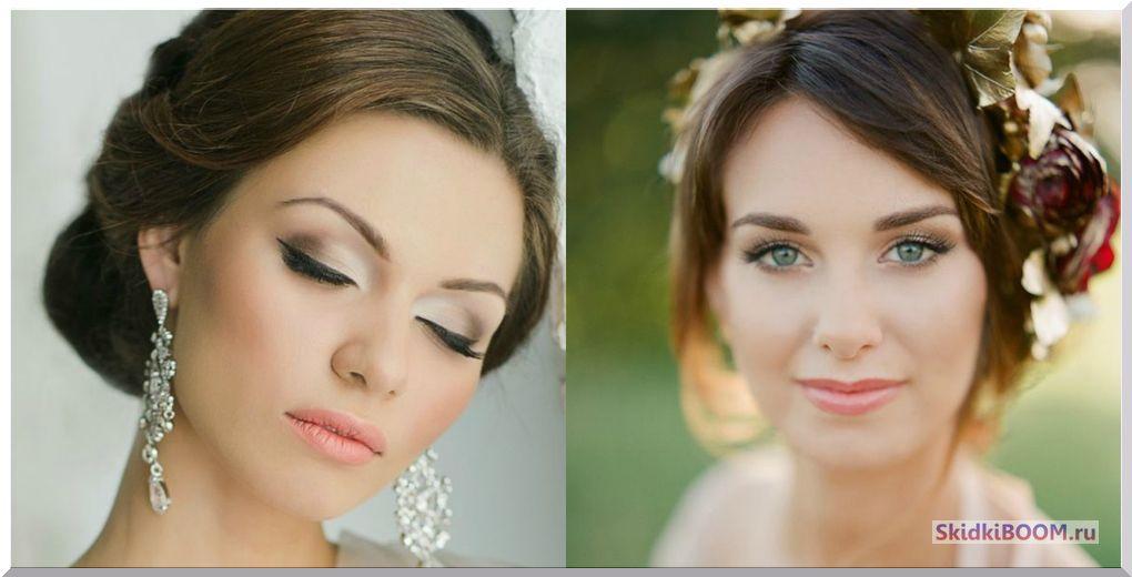 Свадебный макияж для невесты шея