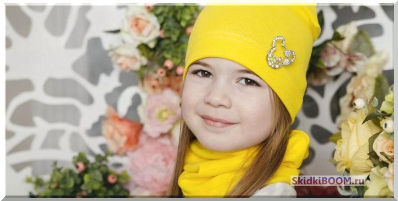 Модная шапка для девочек фото